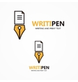 logo or icon combination of a document and vector image vector image