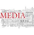 media word cloud concept vector image vector image