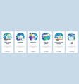 mobile app onboarding screens web page loading vector image vector image
