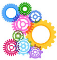 Modeling bright gear wheels background vector image vector image
