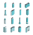 Modern Buildings Isometric Set vector image vector image