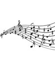 musical design elements from music staff with vector image