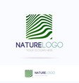 natural logo motion gradient line vector image