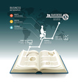 Open book infographic business step paper graph vector image
