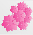 paper flower origami23 vector image vector image