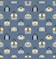 pattern of various fashionable women s handbags in vector image vector image