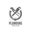 plumbing silhouette logo vector image vector image