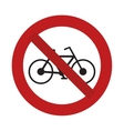 prohibited bicycle transport sport recreational vector image vector image