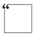quote bubble blank icon design vector image