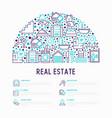 rea estate concept in half circle vector image vector image