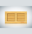 rectangular wooden shipping container for vector image