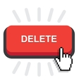 red delete button vector image vector image