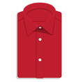 Red folded shirt vector image vector image