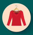 red women sweater clothes on a hanger icon vector image vector image