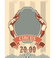 Retro circus poster vector image vector image
