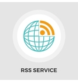 RSS flat icon vector image vector image