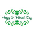 saint patricks day graphic with border pattern vector image vector image