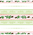 seamless pattern of roses and of stripes vector image