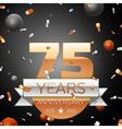 Seventy five years anniversary celebration vector image vector image