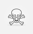 skull and bones concept icon in outline vector image