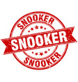 snooker round grunge ribbon stamp vector image vector image