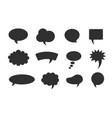speech balloon set black isolated vector image