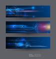 speed and motion blur banner set vector image vector image