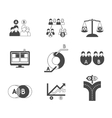 Split testing A and B black icons vector image vector image