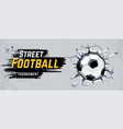 street football design vector image vector image