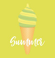 summer abstract poster background with ice cream vector image vector image