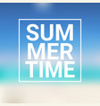 summer time blurred sea bokeh water background vector image vector image
