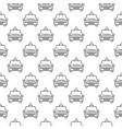 taxi car concept minimal seamless pattern vector image vector image