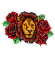 tiger embroidery design embroidery for fashion vector image vector image