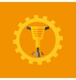 Tool box jackhammer construction icon design vector image