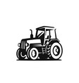 tractor on white background agricultural machinery vector image vector image