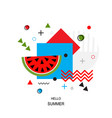 trendy style geometric pattern with watermelon vector image vector image