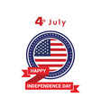 usa independence day design card vector image