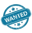WANTED round stamp vector image