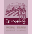 winery red or white wine winemaking homemade vector image vector image