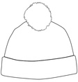 Winter hat outline drawings vector image