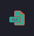 XLS computer symbol vector image