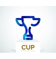 Abstract colorful logo design cup vector image