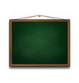 Green chalkboard in wooden frame vector image