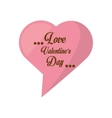 love valentines day card heart shape bubble vector image
