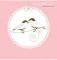 Greeting card with birds vector image