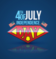 Independence day banner super hero style vector image