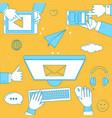 online communication vector image