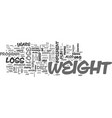 a weight loss plan which is fun to implement text vector image vector image