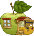 apple house vector image vector image