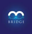 b letter bridge symbol vector image